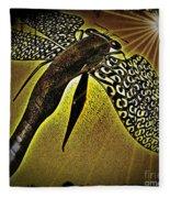 Dragonfly V Fleece Blanket