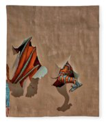 Dragons In The Railyard - Santa Fe #2 Fleece Blanket