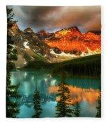 Drama Of The Canadian Rockies Fleece Blanket