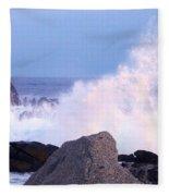 Drama Of The Rocky Shore Fleece Blanket