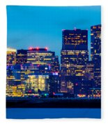 Dramatic Boston Skyline  Fleece Blanket