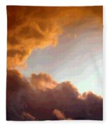 Dramatic Cloud Painting Fleece Blanket
