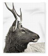 Dramatic Deer Fleece Blanket