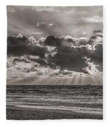 Dramatic Dutch Coast Fleece Blanket