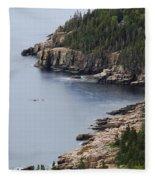 Dramatic Maine Coastline Fleece Blanket