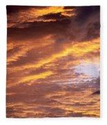 Dramatic Orange Sunset Fleece Blanket