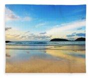 Dramatic Scene Of Sunset On The Beach Fleece Blanket
