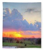 Dramatic Skies Fleece Blanket