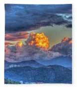 Dramatic Sky And Clouds Fleece Blanket