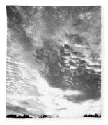 Dramatic Sky Bw Fleece Blanket