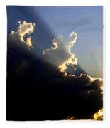Dramatic Sunburst Fleece Blanket