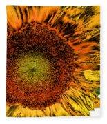Dramatic Sunflower Fleece Blanket