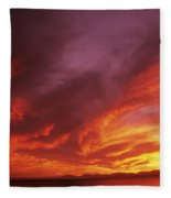 Dramatic Sunset Fleece Blanket