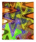 Drawing Color Squares Abstract Fleece Blanket