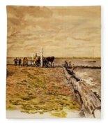 Drawing The Seine 1882 Fleece Blanket