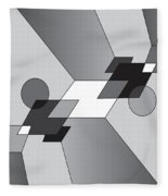 Drawn2shapes12bnw Fleece Blanket