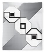 Drawn2shapes4bnw Fleece Blanket