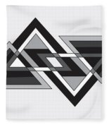Drawn2shapes6bnw Fleece Blanket