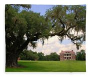 Drayton Hall Plantation Charleston Fleece Blanket