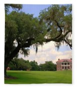 Drayton Hall Plantation Charleston Fleece Blanket