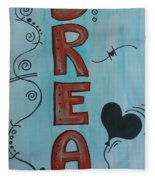 Dream Acrylic Watercolor Fleece Blanket
