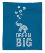 Dream Big Elephant Fleece Blanket