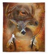 Dream Catcher - Autumn Deer Fleece Blanket