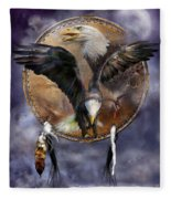 Dream Catcher - Spirit Eagle 3 Fleece Blanket