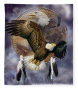 Dream Catcher - Spirit Eagle Fleece Blanket