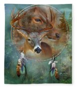 Dream Catcher - Spirit Of The Deer Fleece Blanket