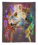 Dream Catcher - Wolf Spirits Fleece Blanket