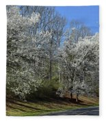 Dreamin' Of A White Spring No.5 Fleece Blanket