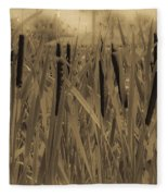 Dreaming Of Cattails Fleece Blanket