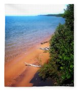 Dreaming Of Lake Michigan Fleece Blanket