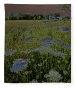 Dreaming Of Queen Annes Lace Fleece Blanket