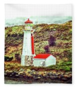 Dreaming Of The Georges Island Light In Halifax Fleece Blanket