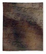 Dreaming Of Words Fleece Blanket