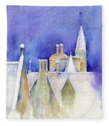 Dreaming Spires Fleece Blanket