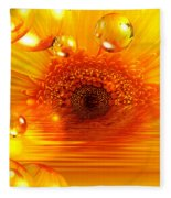 Dreams 2 - Gerbera Sunrise Fleece Blanket
