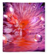 Dreams 3 Chrysanthemum Fleece Blanket