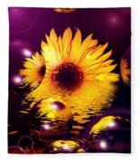 Dreams 4 - Sunflower Fleece Blanket