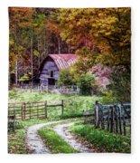 Dreams On The Farm Fleece Blanket