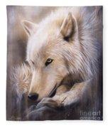 Dreamscape - Wolf Fleece Blanket