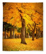 Dreamy Autumn Day Fleece Blanket