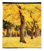 Dreamy Autumn Gold Fleece Blanket