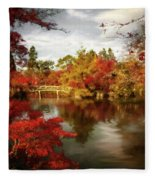 Dreamy Autumn Impressionism Fleece Blanket