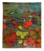 Dreamy Flowers Fleece Blanket