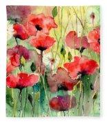 Dreamy Hot Summer Fields Fleece Blanket