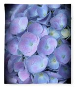 Dreamy Hydrangea In Purple And Blue  Fleece Blanket