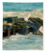 Dreamy Jetty - Jersey Shore Fleece Blanket